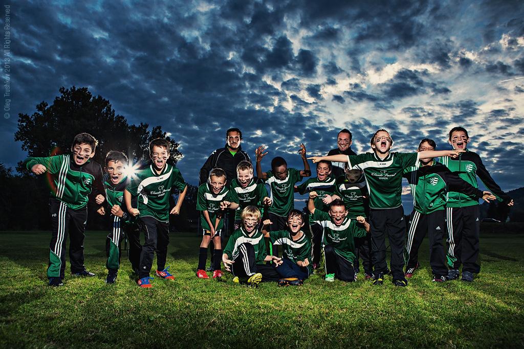 Fussballverein 09 Niefern F-youth team photoshoot photographer oleg trushkov