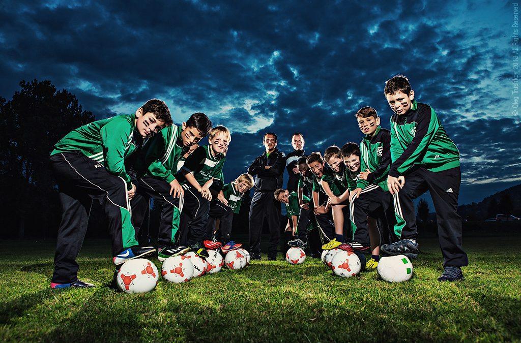 Fussballverein 09 Niefern F-youth team photoshoot
