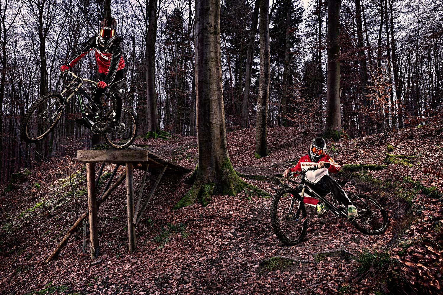 Advertising sports photographer Oleg Trushkov - Mountain Bikers